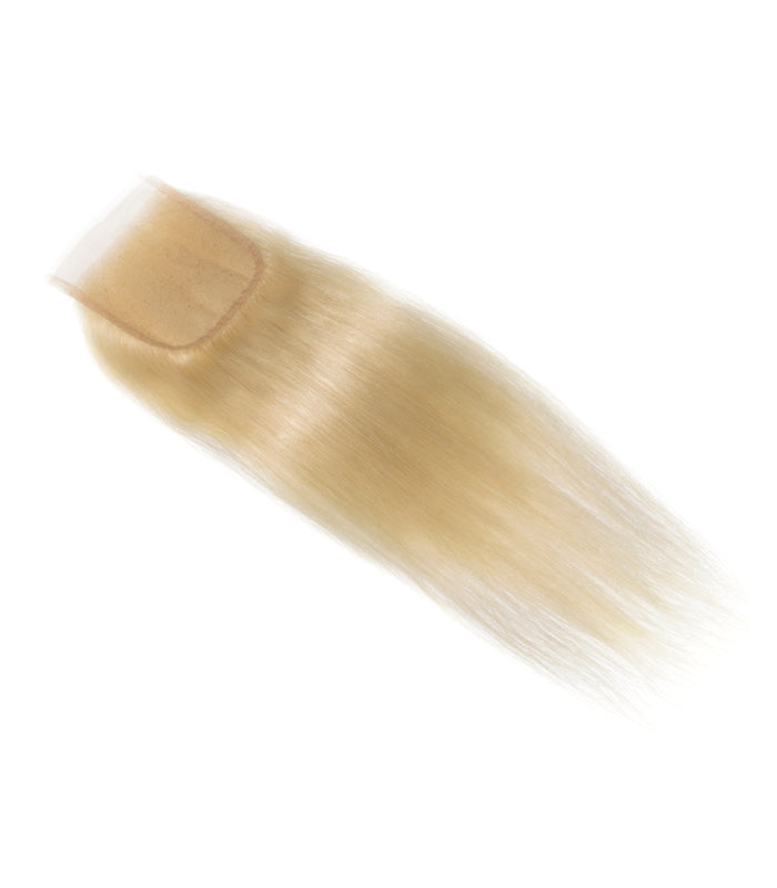 Top Closure Lisse blond platine 613