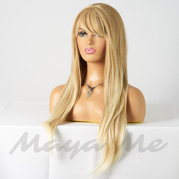 cheveux blonds naturel lisses
