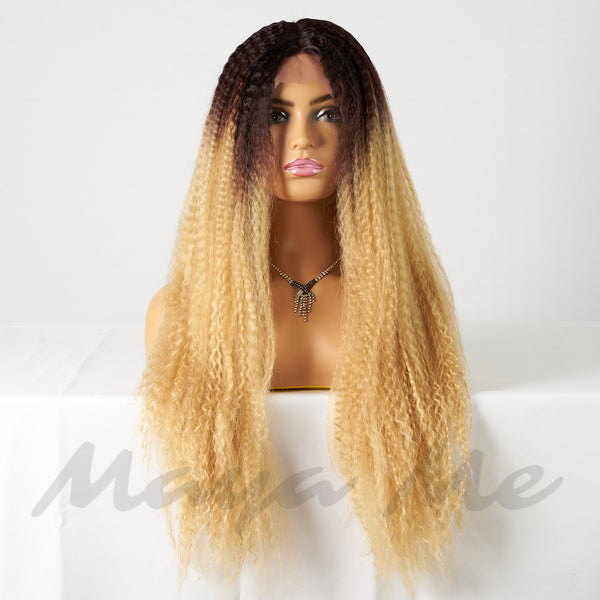 lace wig tie and die blond