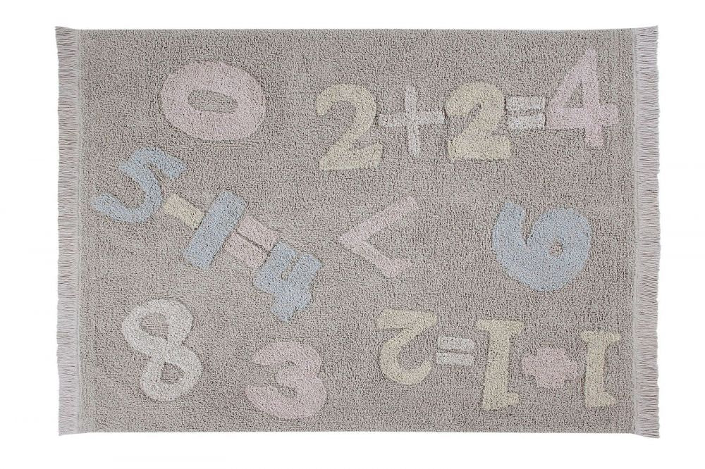 Lorena Canals waschbarer Teppich Back To School - Baby Numbers, 120 x 160cm