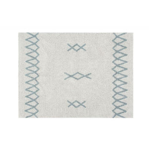 Lorena Canals waschbarer Teppich BACK TO BASICS: Atlas Natural - Vintage Blue, 120 x 160cm
