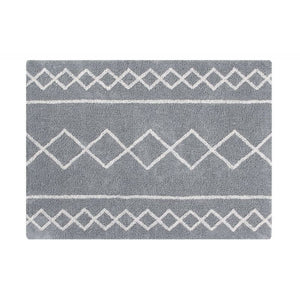 Lorena Canals waschbarer Teppich BACK TO BASICS: Oasis Natural - Grey, 120 x 160cm