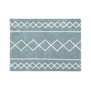 Lorena Canals waschbarer Teppich BACK TO BASICS: Oasis Natural - Vintage Blue, 120 x 160cm