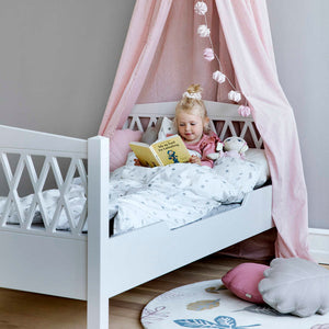 Cam Cam Harlequin Juniorbett light sand, 90 x 160 cm
