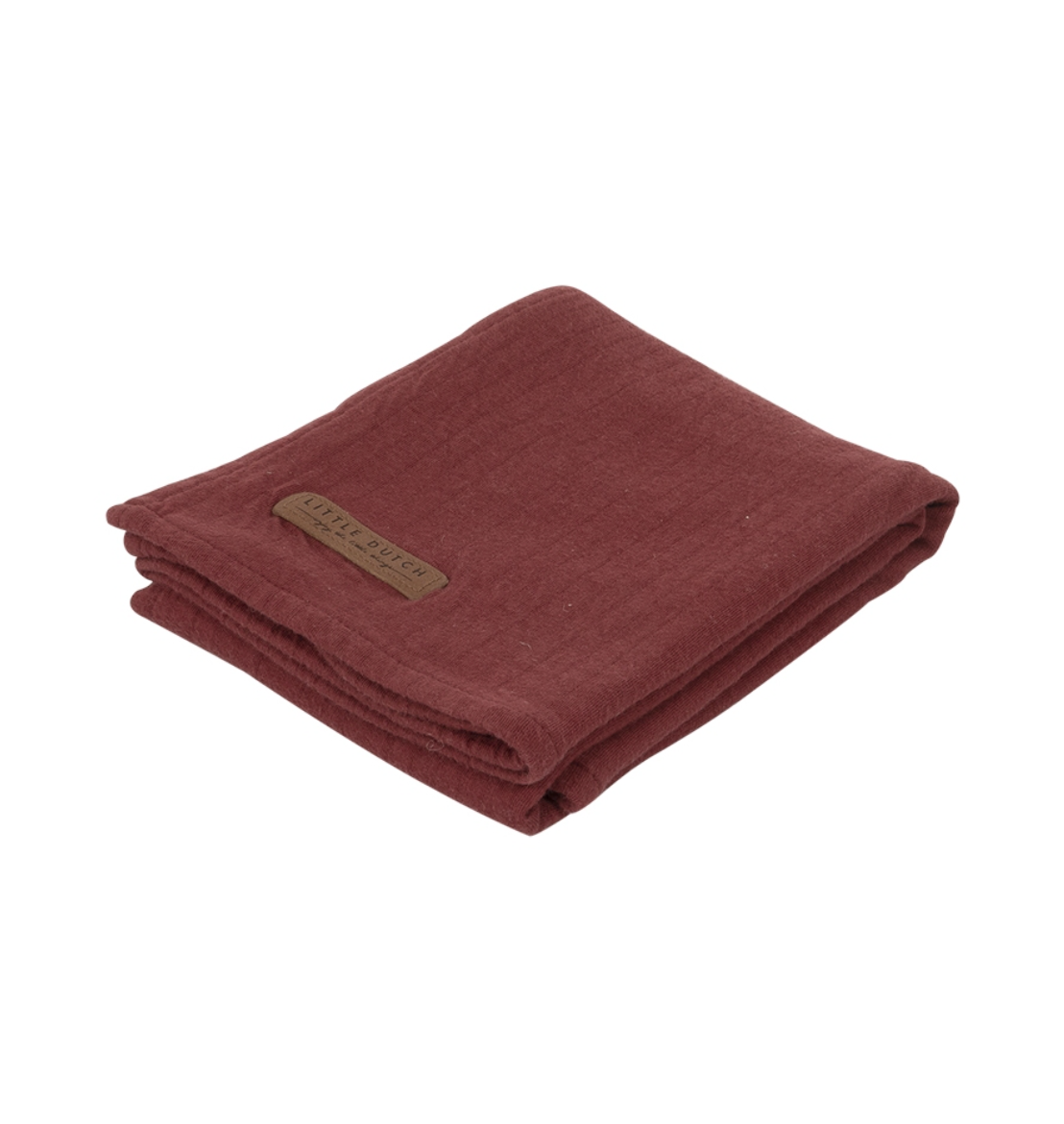 Little Dutch Swaddle Tuch 120 x 120cm, Pure Indian Red