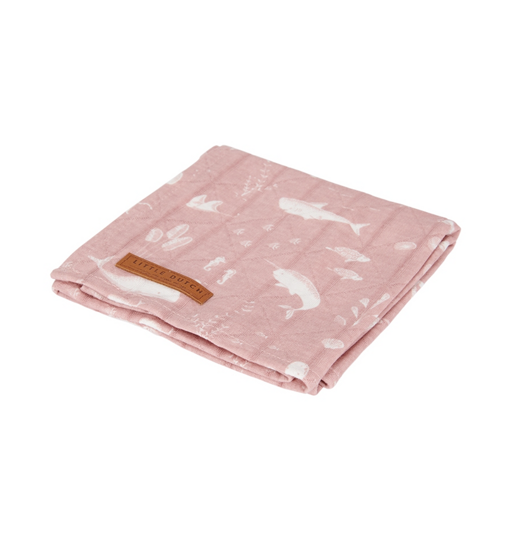Little Dutch Swaddle Tuch 120 x 120cm, Ocean Pink