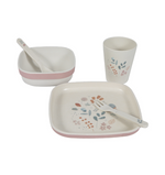 Little Dutch Bambus Essgeschirr-Set Spring Flowers