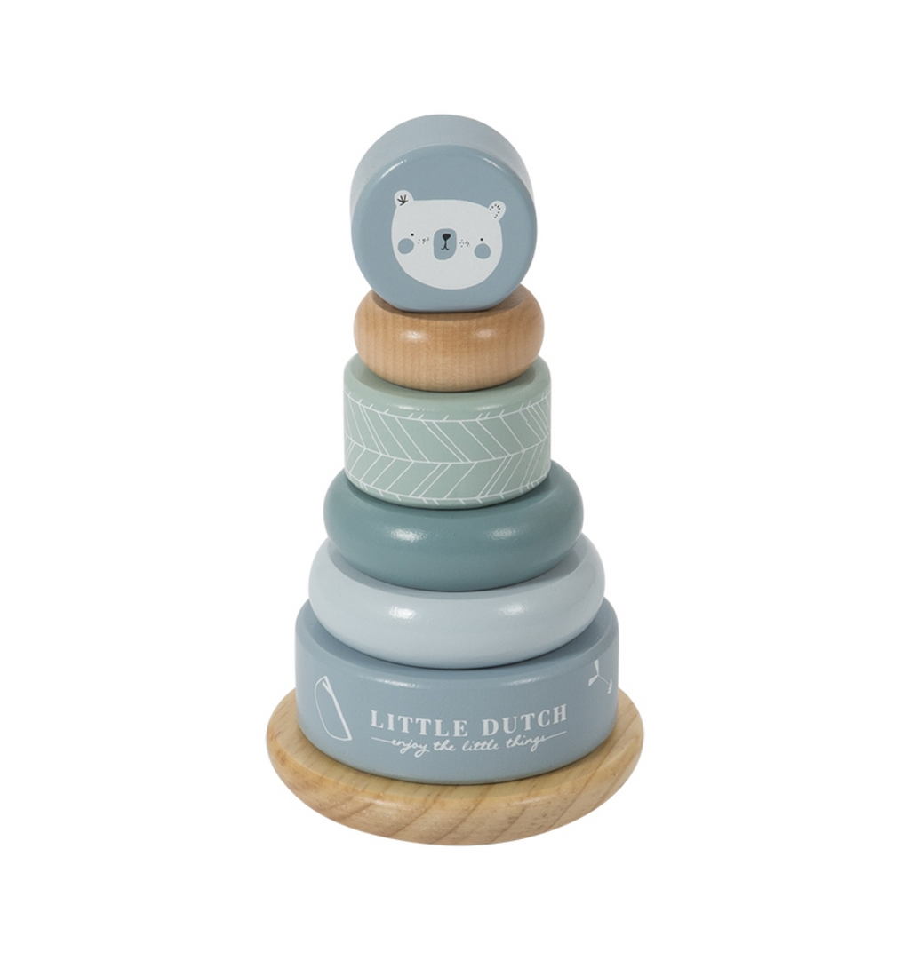 Little Dutch Ringstapelturm Holz, Adventure Blue