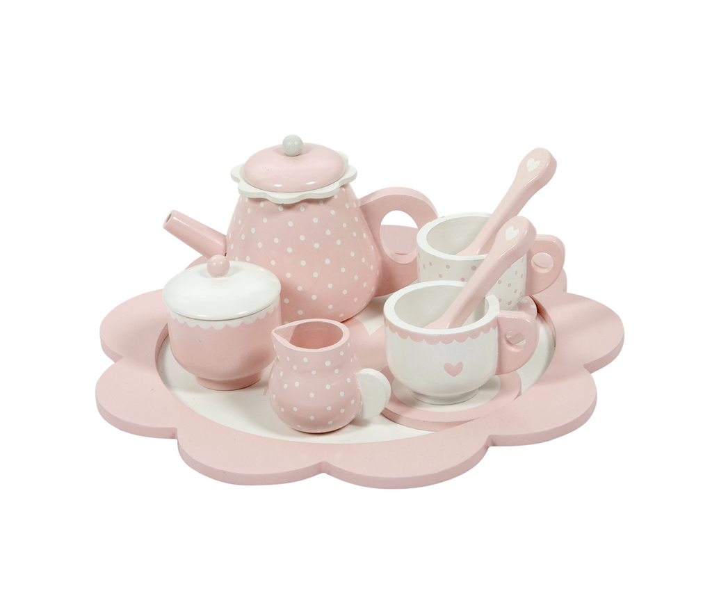 Little Dutch Holz Teeset, pink