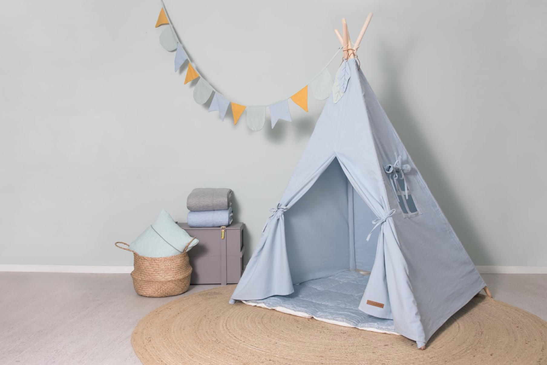 Little Dutch Tipi Zelt, blau