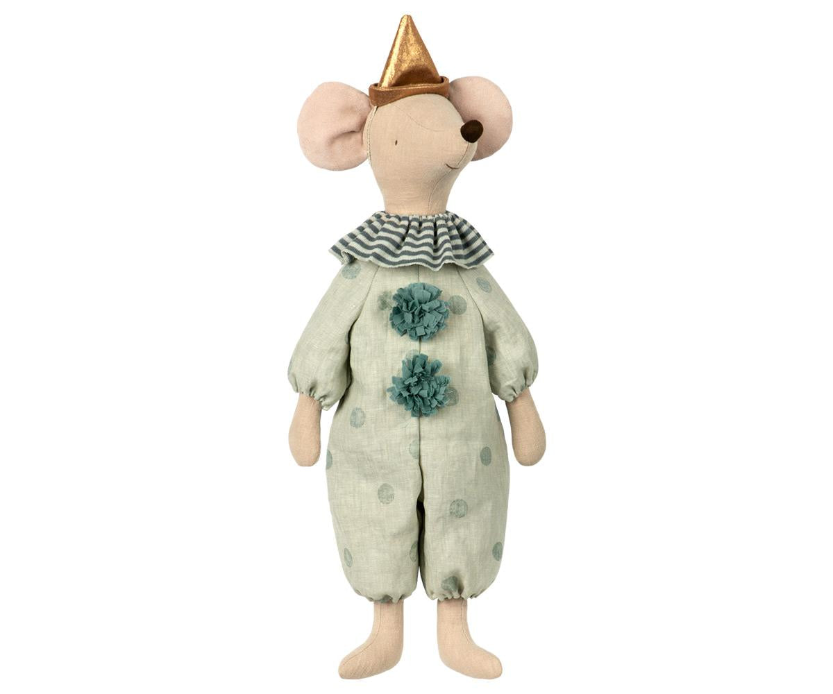 Maileg Circus Clown Maxi Mouse (mint)