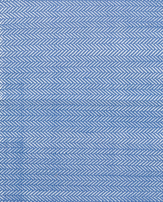 Dash & Albert Indoor/Outdoor Teppich Herringbone French Blue/White