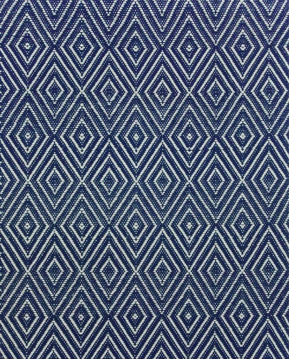 Dash & Albert Indoor/Outdoor Teppich Diamond Navy/Ivory