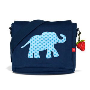 Kindergartentasche Canvas Elefant blau