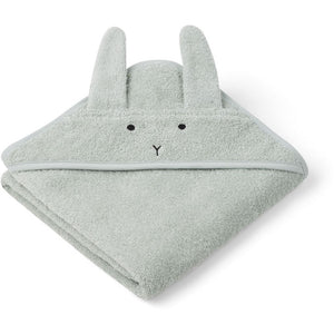 Liewood Albert Hooded Towel Kapuzenbadetuch Rabbit mint