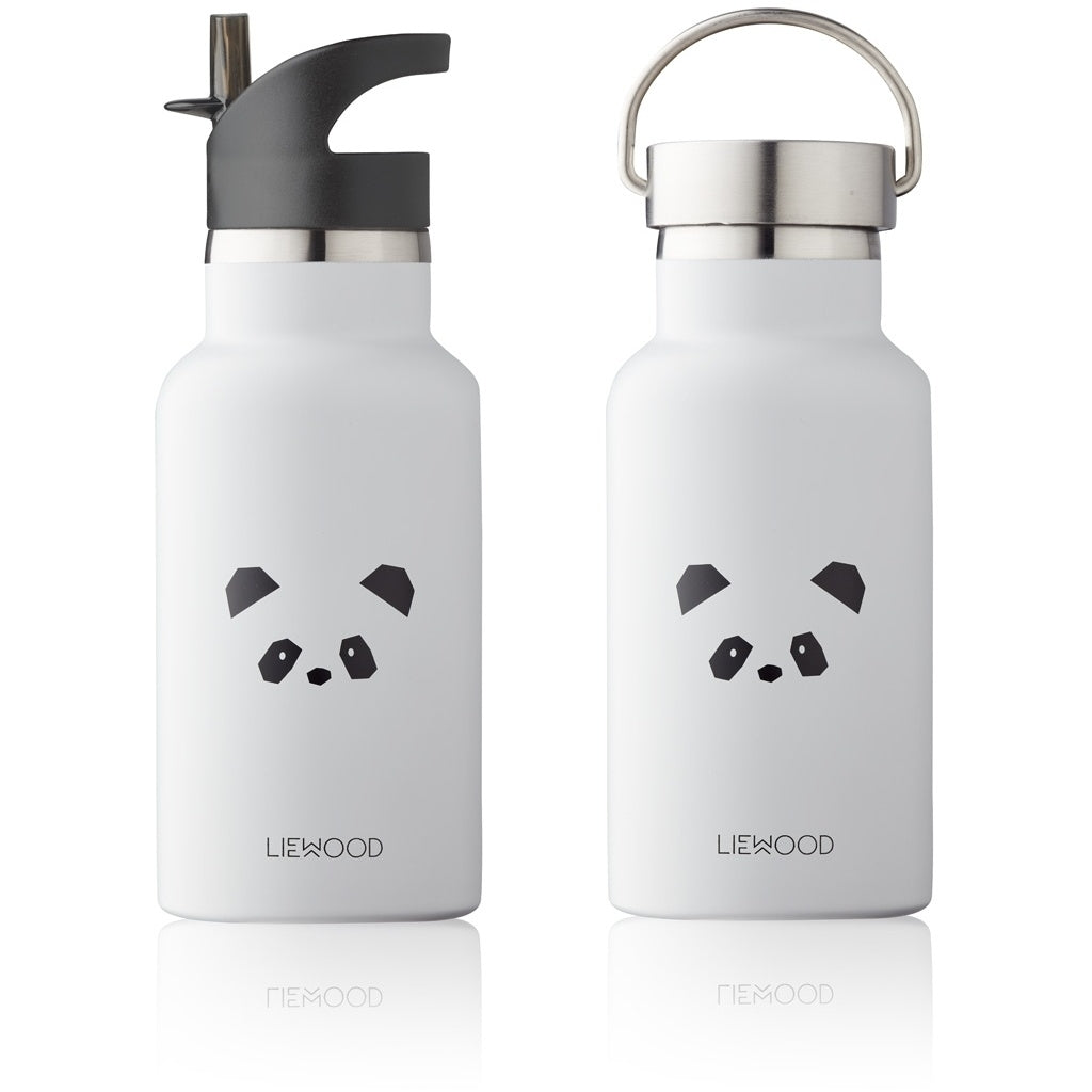 Liewood Anker Water Bottle Trinkflasche Panda light grey