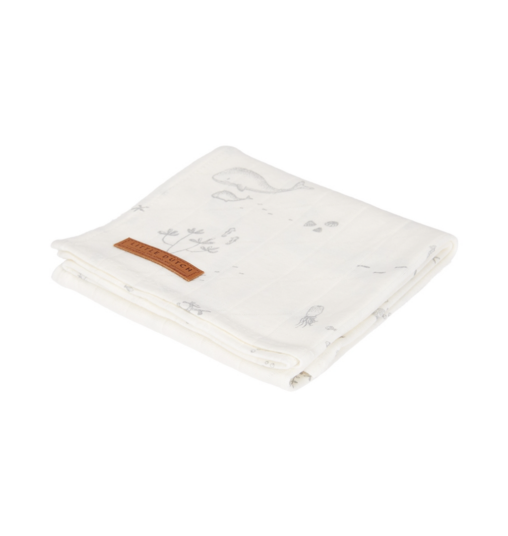 Little Dutch Swaddle Ocean white