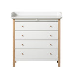 Oliver Furniture Wickelkommode Wood Collection, weiss/Eiche