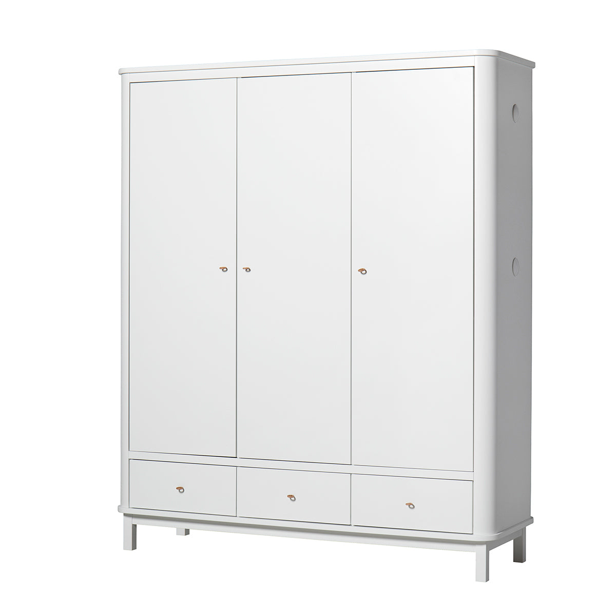 Oliver Furniture Kleiderschrank Wood Collection , 3-türig, weiss