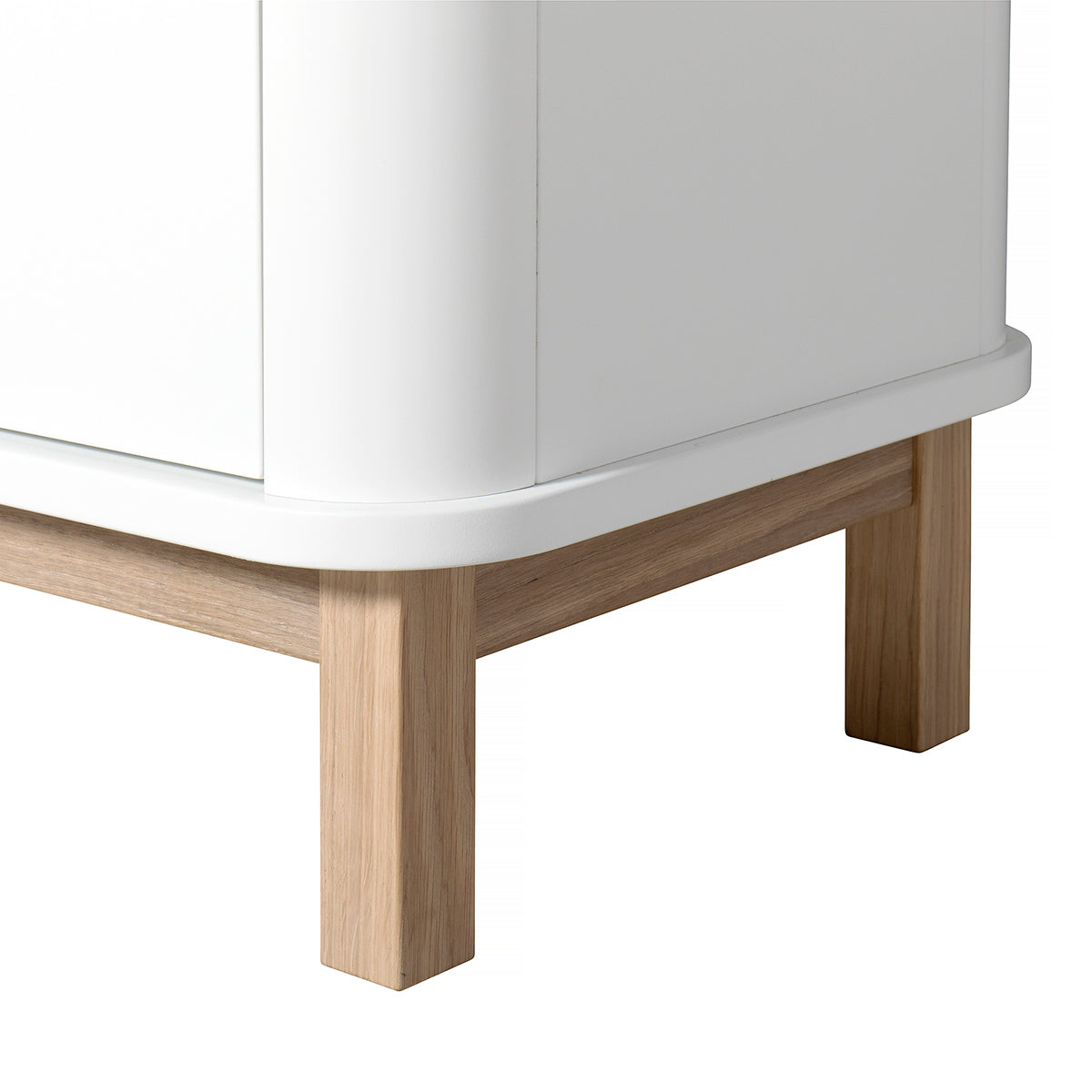 Oliver Furniture Multischrank Wood Collection, 3-türig, weiss/Eiche