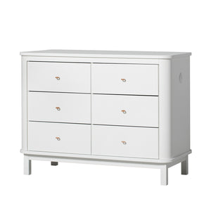 Oliver Furniture grosse Kommode Wood Collection mit 6 Schubladen, weiss