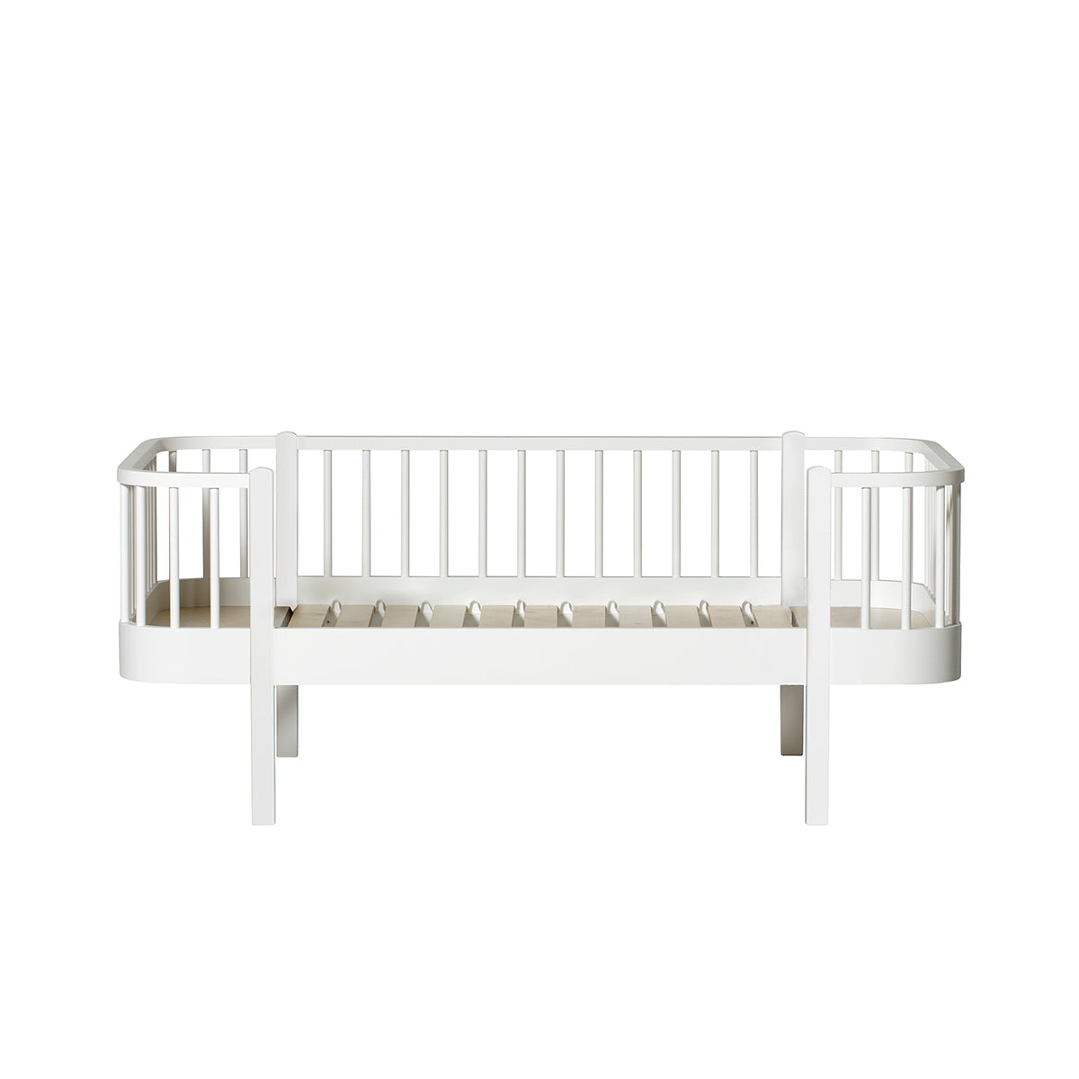 Oliver Furniture Wood Junior Bettsofa, 90 x 160cm, weiss