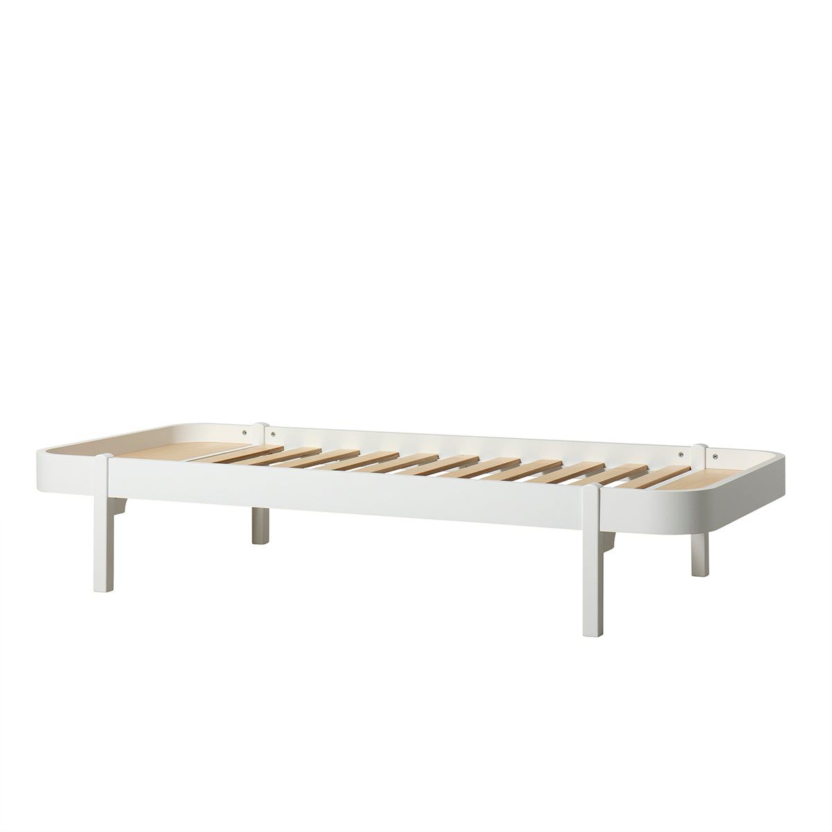 Oliver Furniture Wood Lounger, 90 x 200cm, weiss