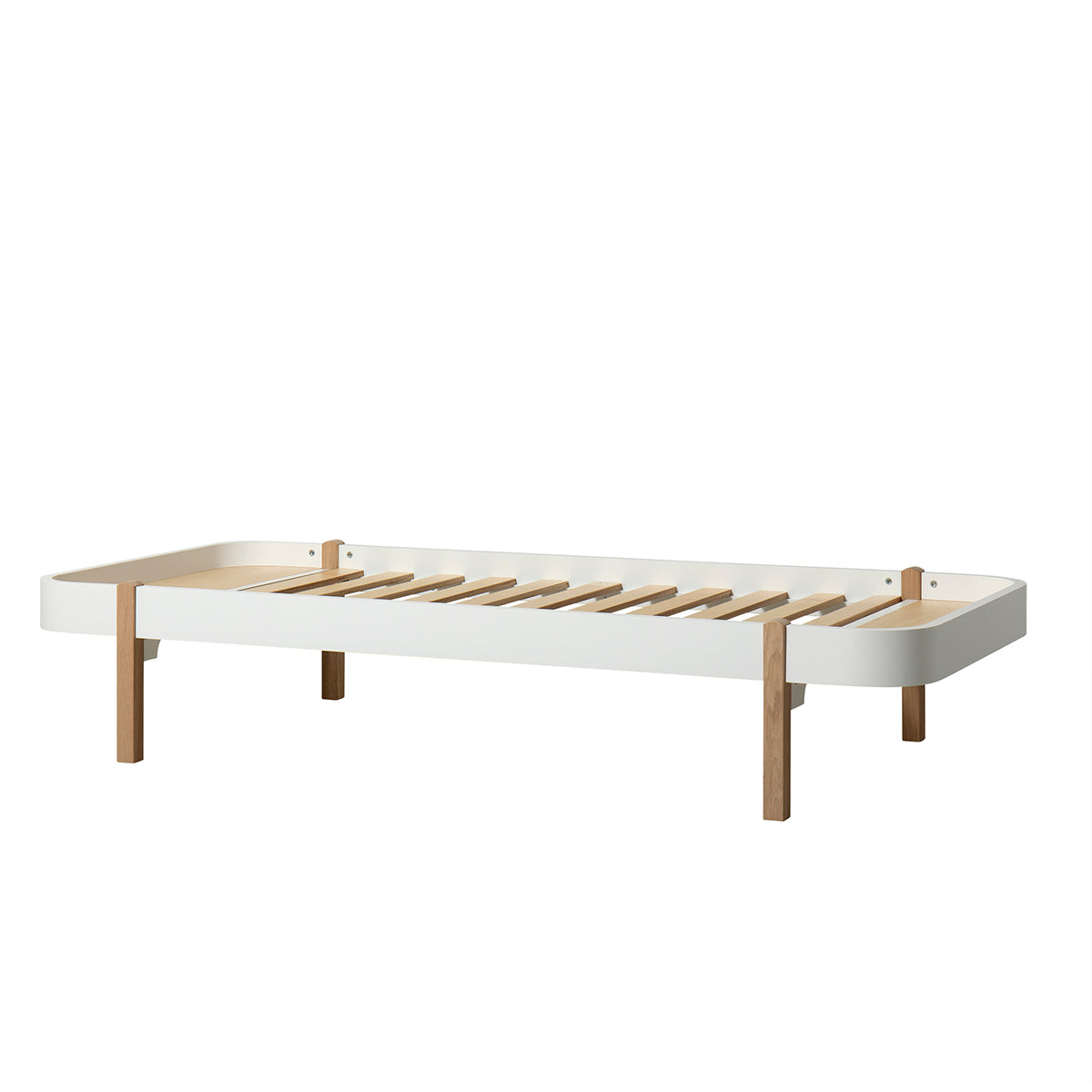 Oliver Furniture Wood Lounger 90 x 200cm, weiss/Eiche