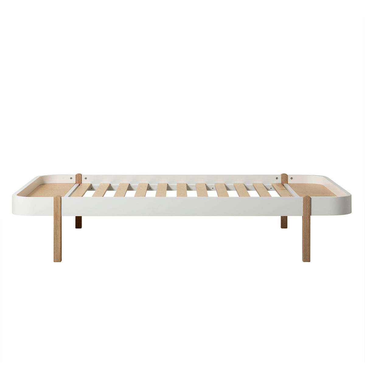 Oliver Furniture Wood Lounger, 120 x 200 cm, weiss/Eiche