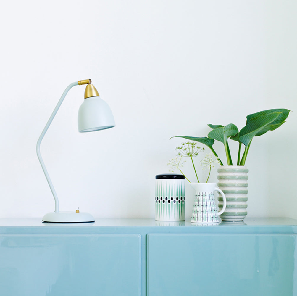 Super Living Urban Tischlampe-matt-misty-green