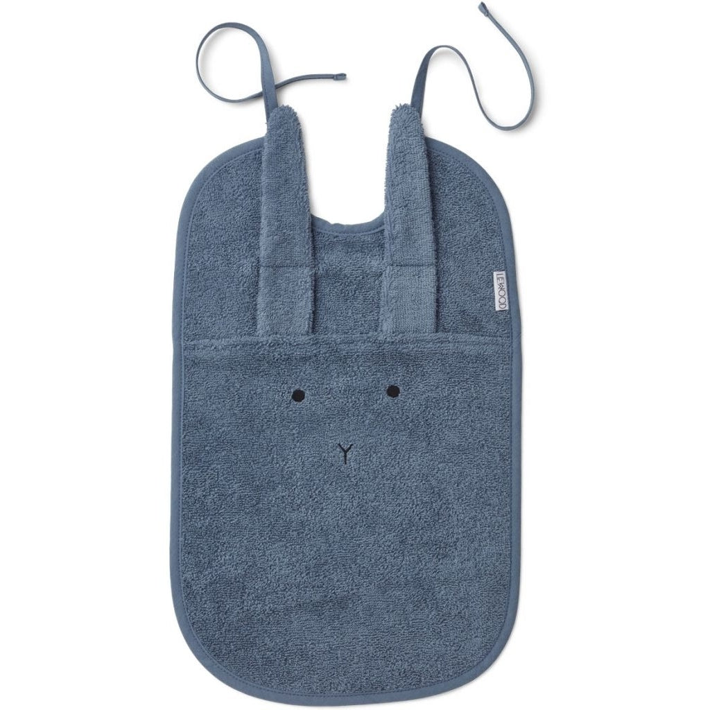Liewood Theo Terry Bib Lätzchen, Rabbit Blue wave