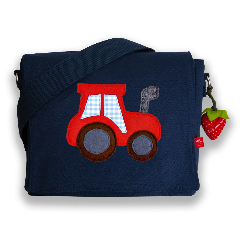 Kindergartentasche Canvas Traktor