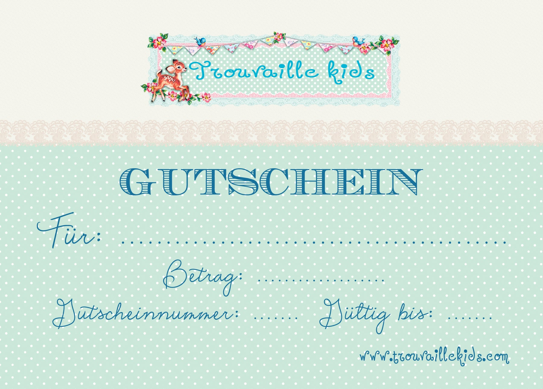 Trouvaille kids & living Gutschein, CHF 150.00