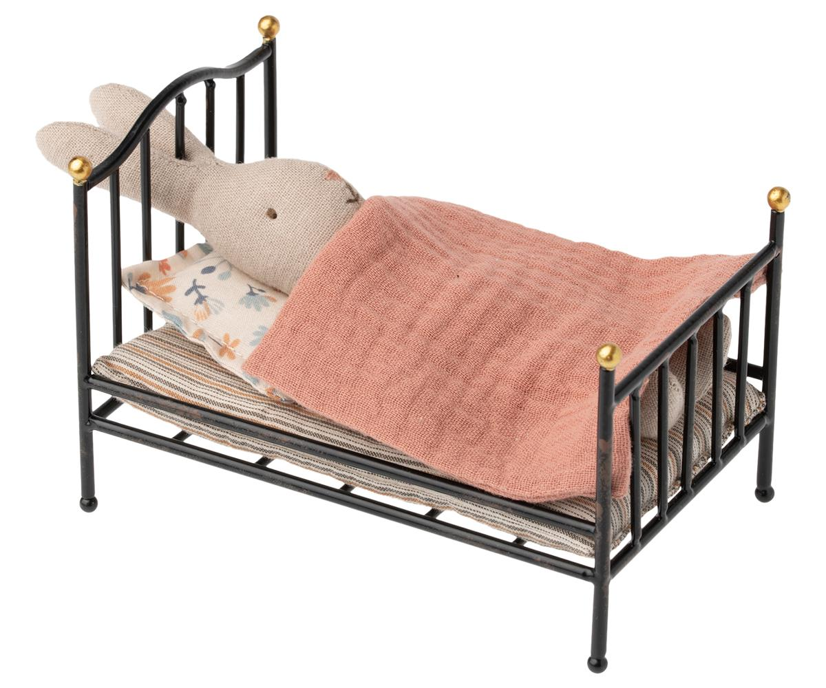 Maileg Vintage bed Mouse - Anthracite