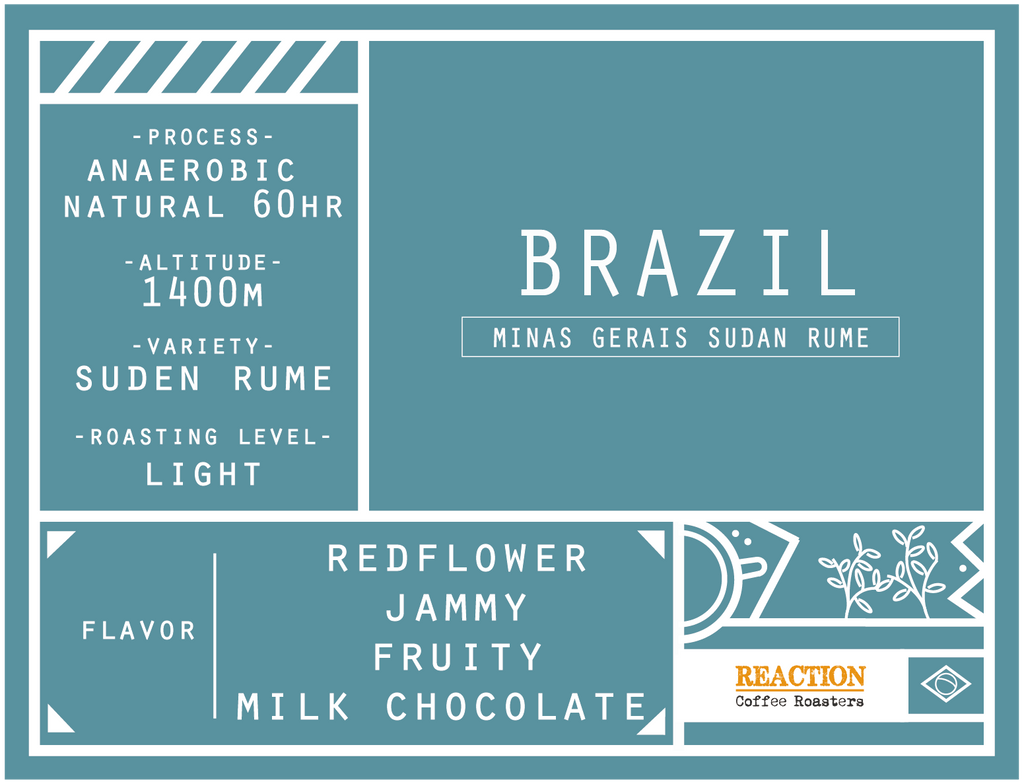 Single Origin - BRAZIL Minas Gerais Sudan Rume