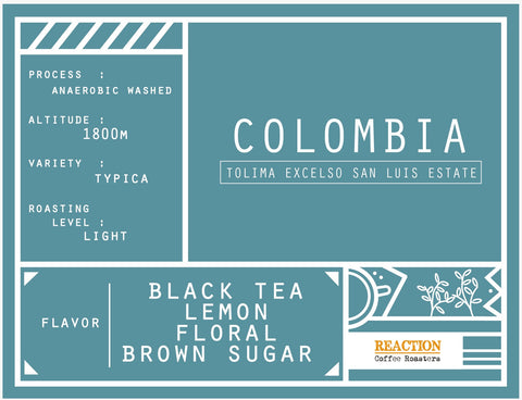 Single Origin - Colombia Tolima Excelso San Luis Estate