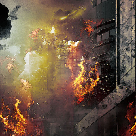 PSD File - High-Rise Building on Fire Effect