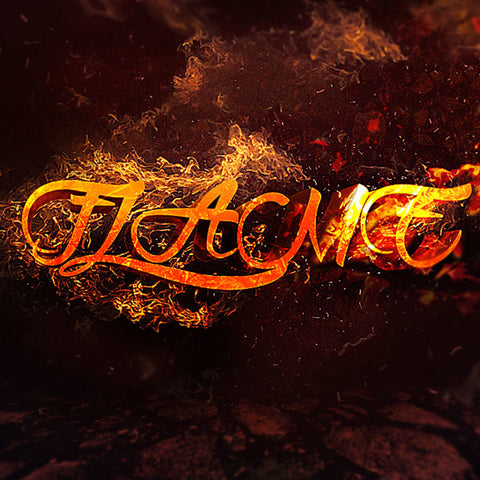 PSD File - Create 3D Text Surrounded by Flame in Photoshop