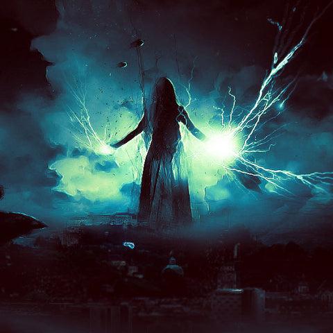 "PSD File - ""Dark Power Unleashed"" Surreal Digital Art"