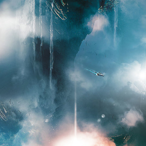 PSD File - Create Surreal Landscape with Mountain and Waterfalls in Photoshop