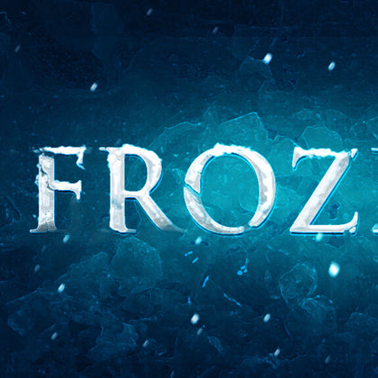PSD File - Create Realistic Frozen Text Effect in Photoshop