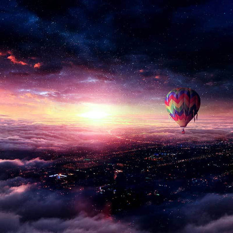 PSD File - Create Hot Air Balloon Adventure Photo Manipulation in Photoshop