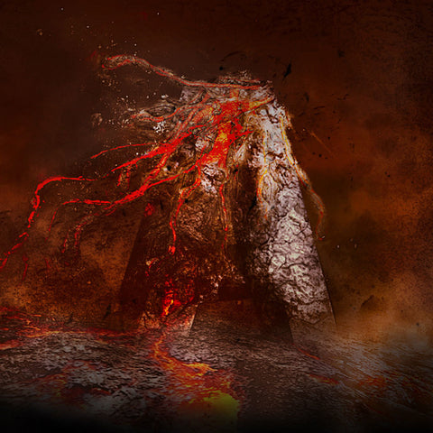 PSD File - Create Volcanic Lava Flow 3D Text Effect in Photoshop