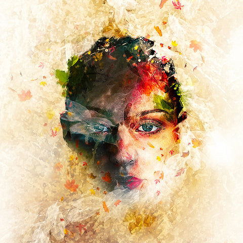 PSD File - Create Leafy Face Photo Manipulation in Photoshop