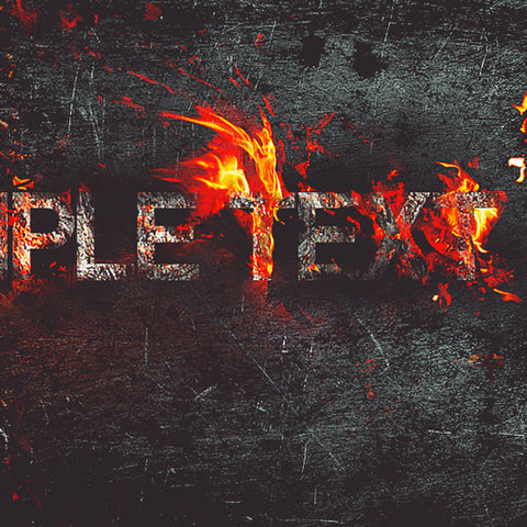 PSD File - Create Fire Burning on Metal Text Effect in Photoshop