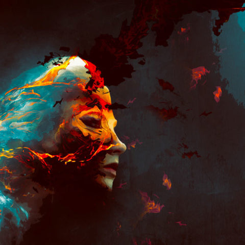 PSD File - Create Colourful Fiery Portrait in Photoshop