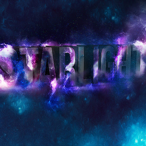 PSD File - Create 3D Star Light Text Effect in Photoshop