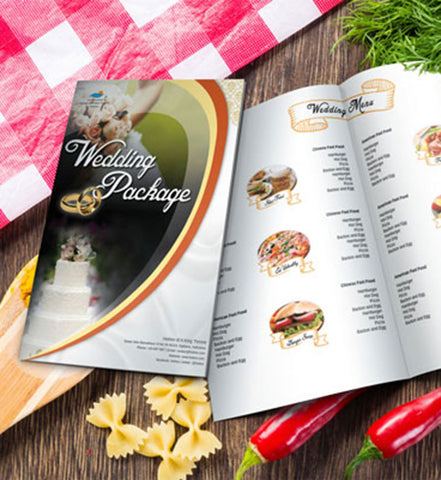 Premium Tutorial - Design Wedding Menu using Photoshop, InDesign, and Illustrator