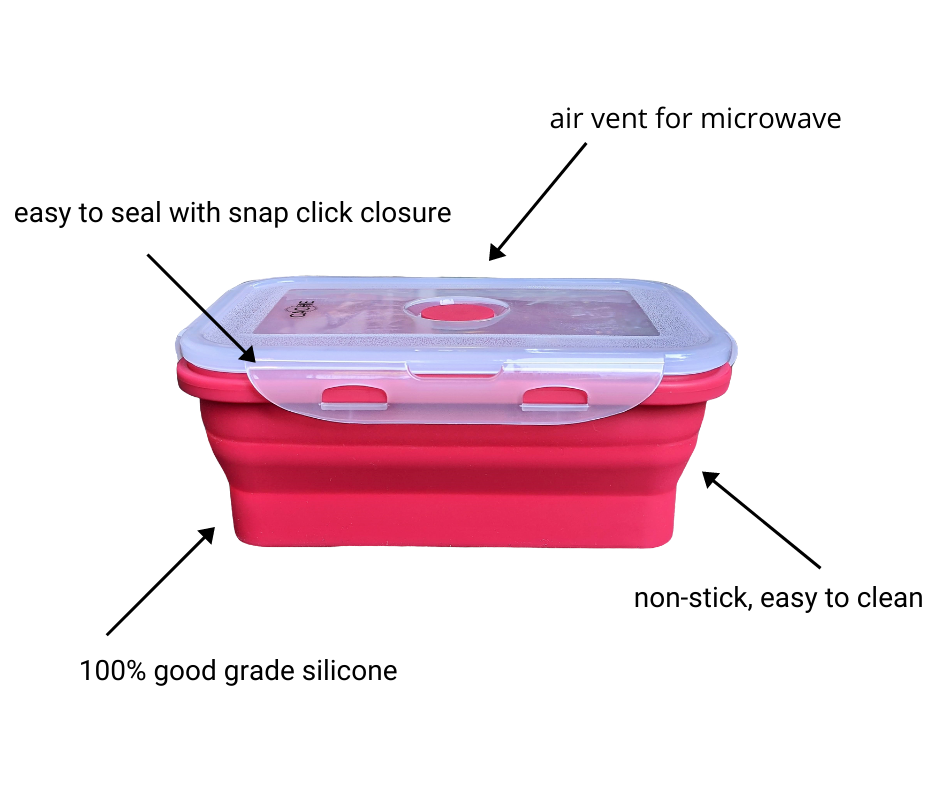 Cache Silicone Food Storage Containers