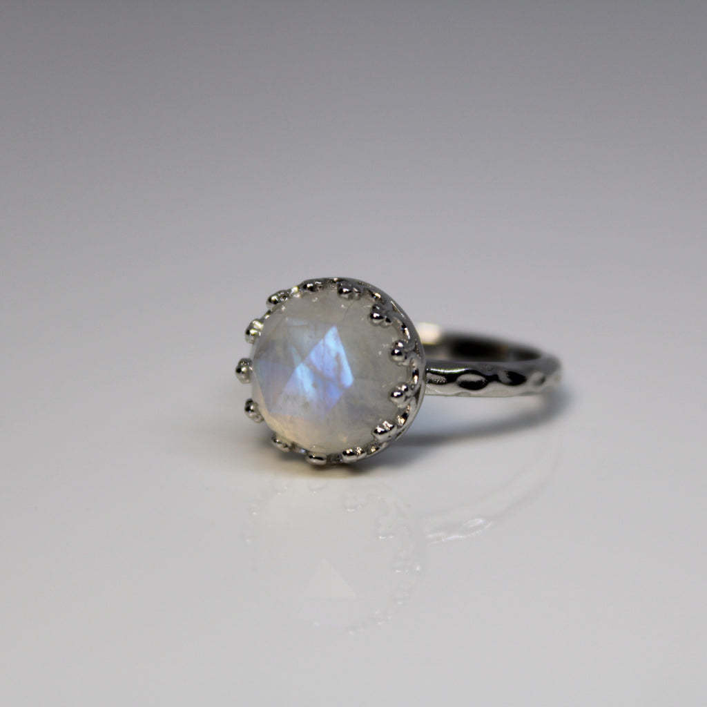 Milk Bath Moonstone Ring